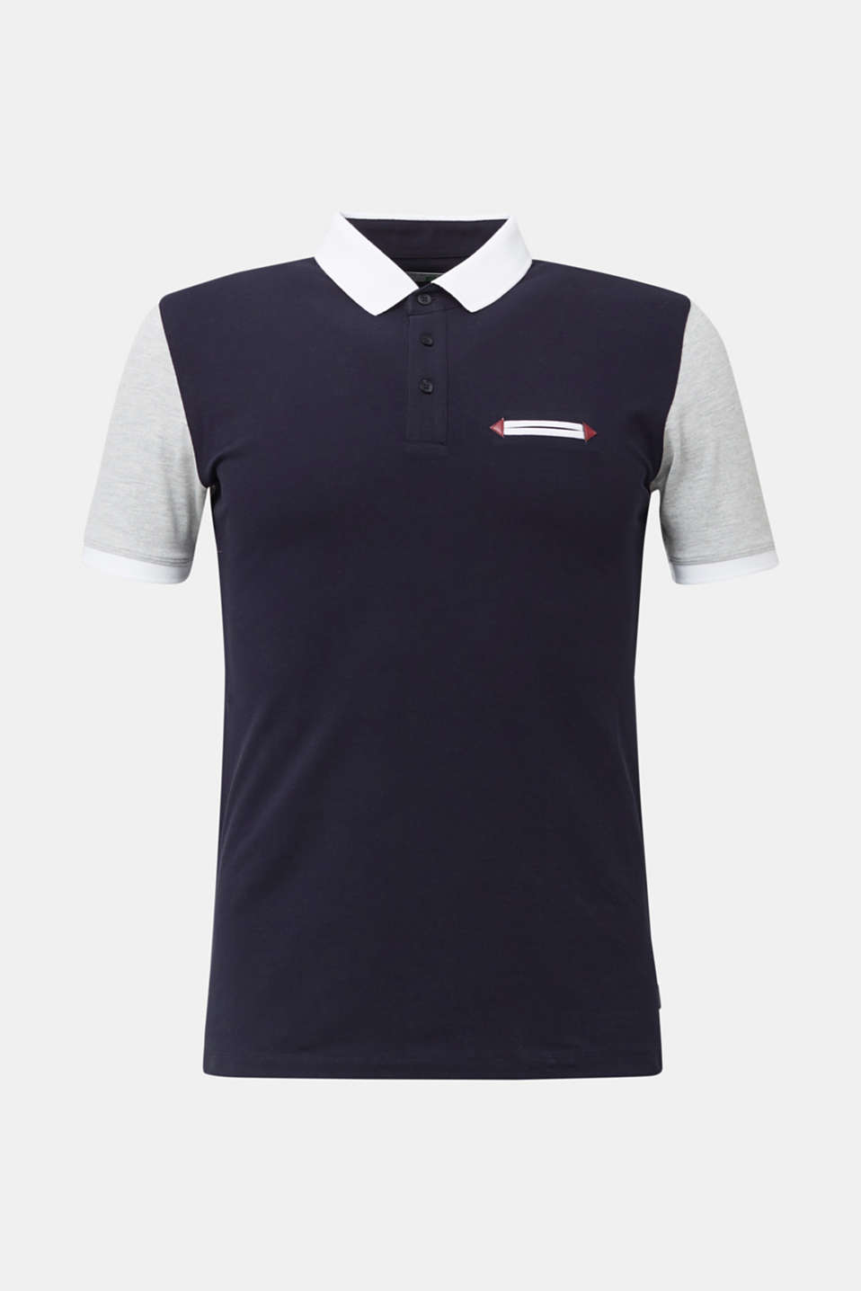 Piqué polo shirt with organic cotton, NAVY 2, detail image number 5
