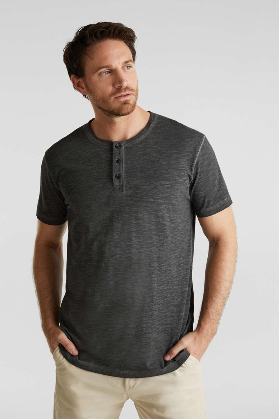 Slub jersey T-shirt made of organic cotton, BLACK, detail image number 0