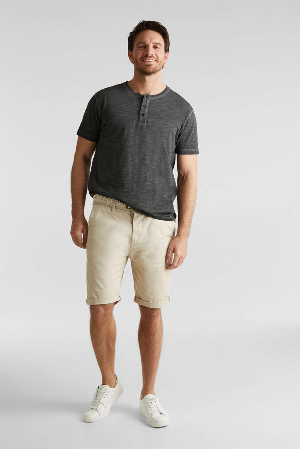 Slub jersey T-shirt made of organic cotton, BLACK, detail image number 7