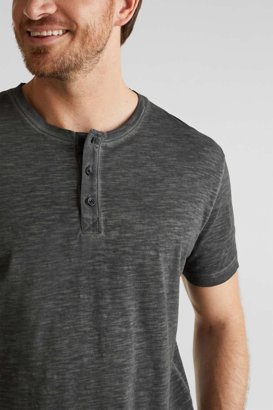 Slub jersey T-shirt made of organic cotton, BLACK, detail image number 1