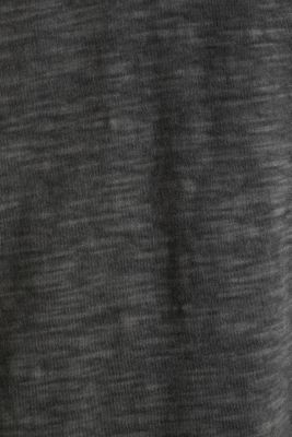 Slub jersey T-shirt made of organic cotton, BLACK, detail
