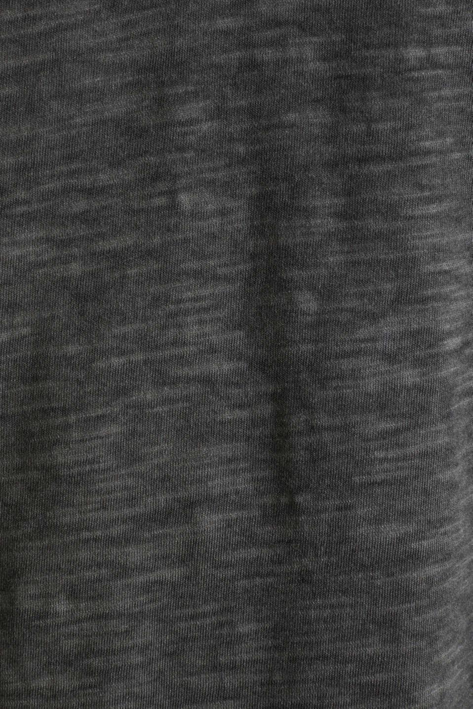 Slub jersey T-shirt made of organic cotton, BLACK, detail image number 4
