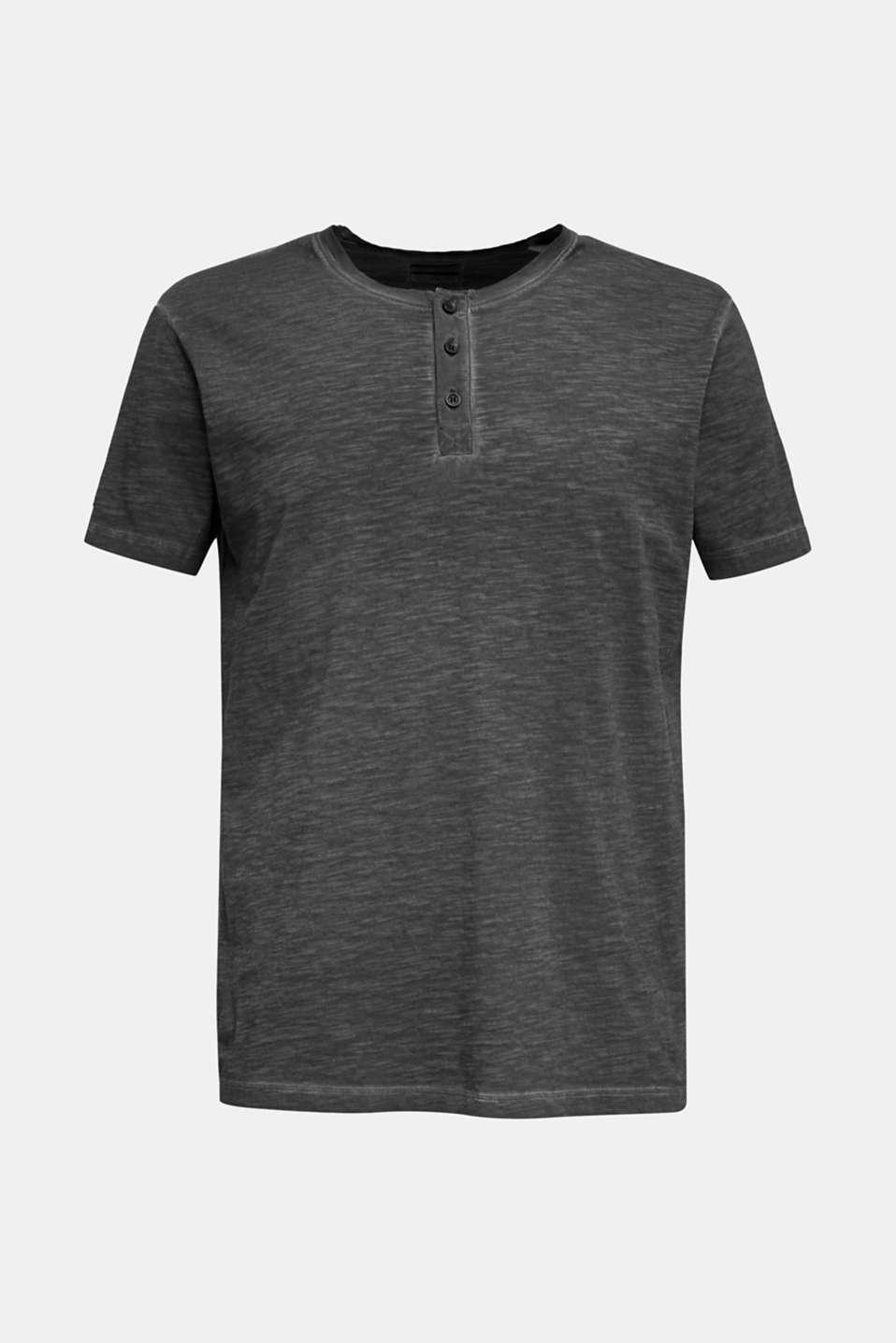 Slub jersey T-shirt made of organic cotton, BLACK, detail image number 6