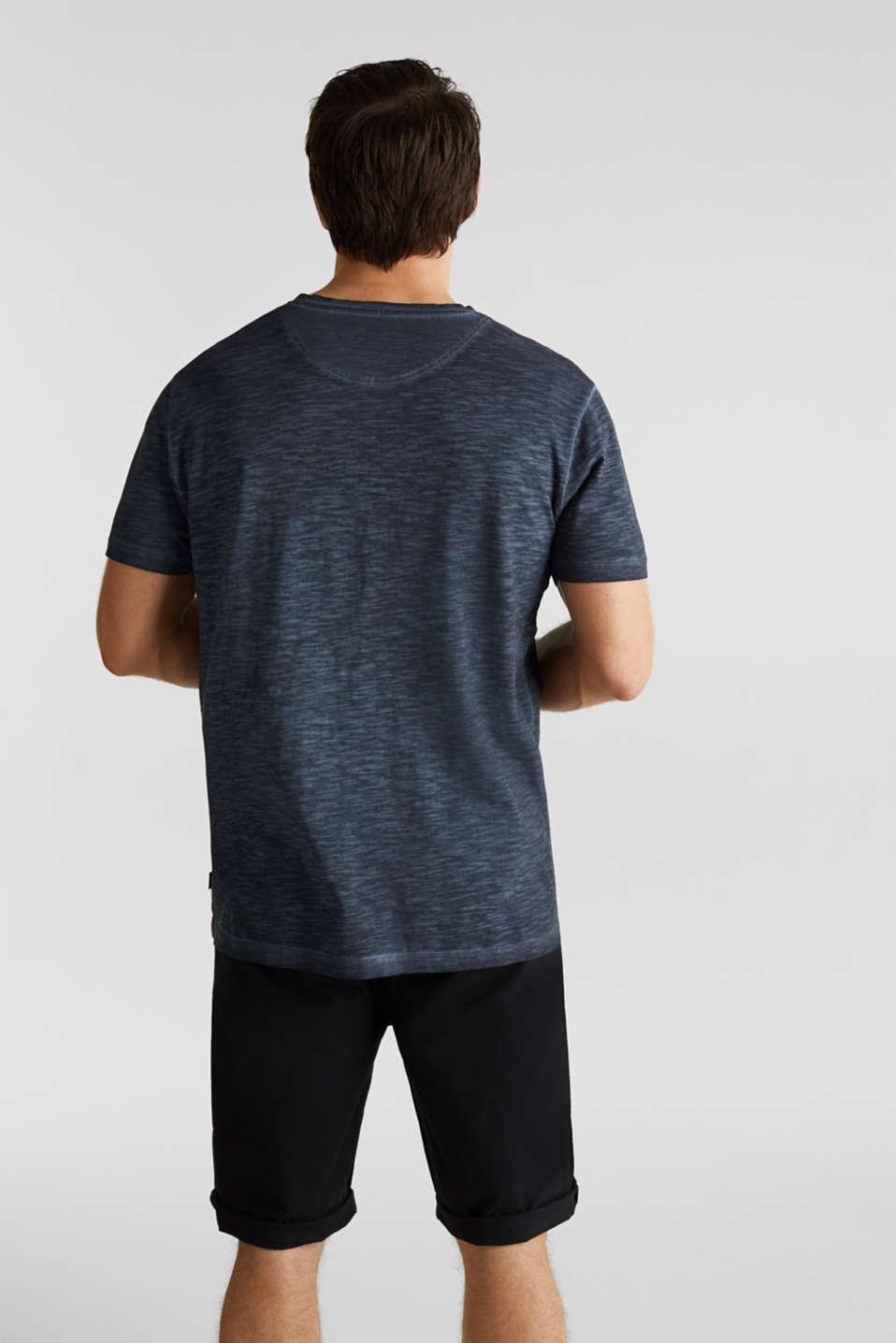 Slub jersey T-shirt made of organic cotton, NAVY 2, detail image number 2
