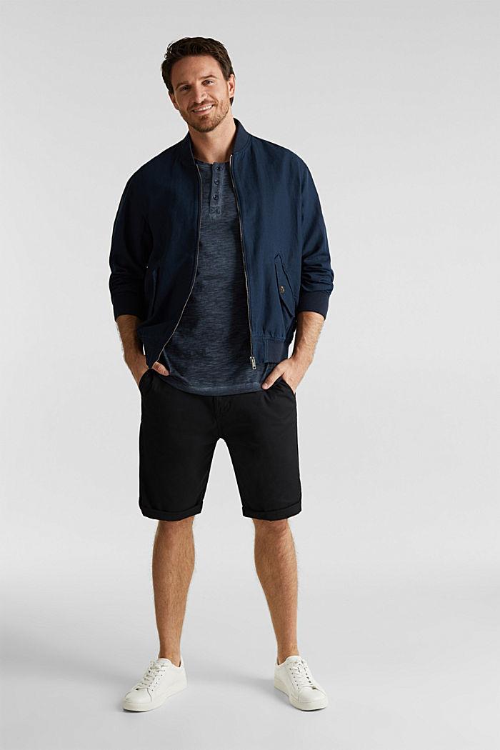 Slub Jersey-Shirt aus Organic Cotton, NAVY, detail image number 1