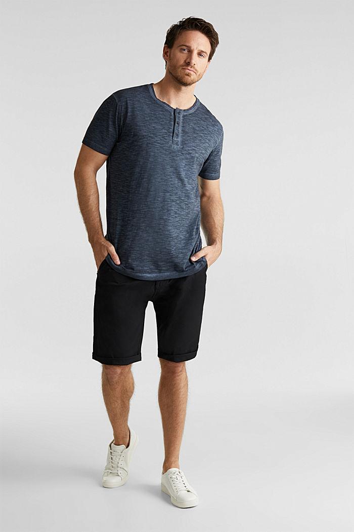 Slub Jersey-Shirt aus Organic Cotton, NAVY, detail image number 6