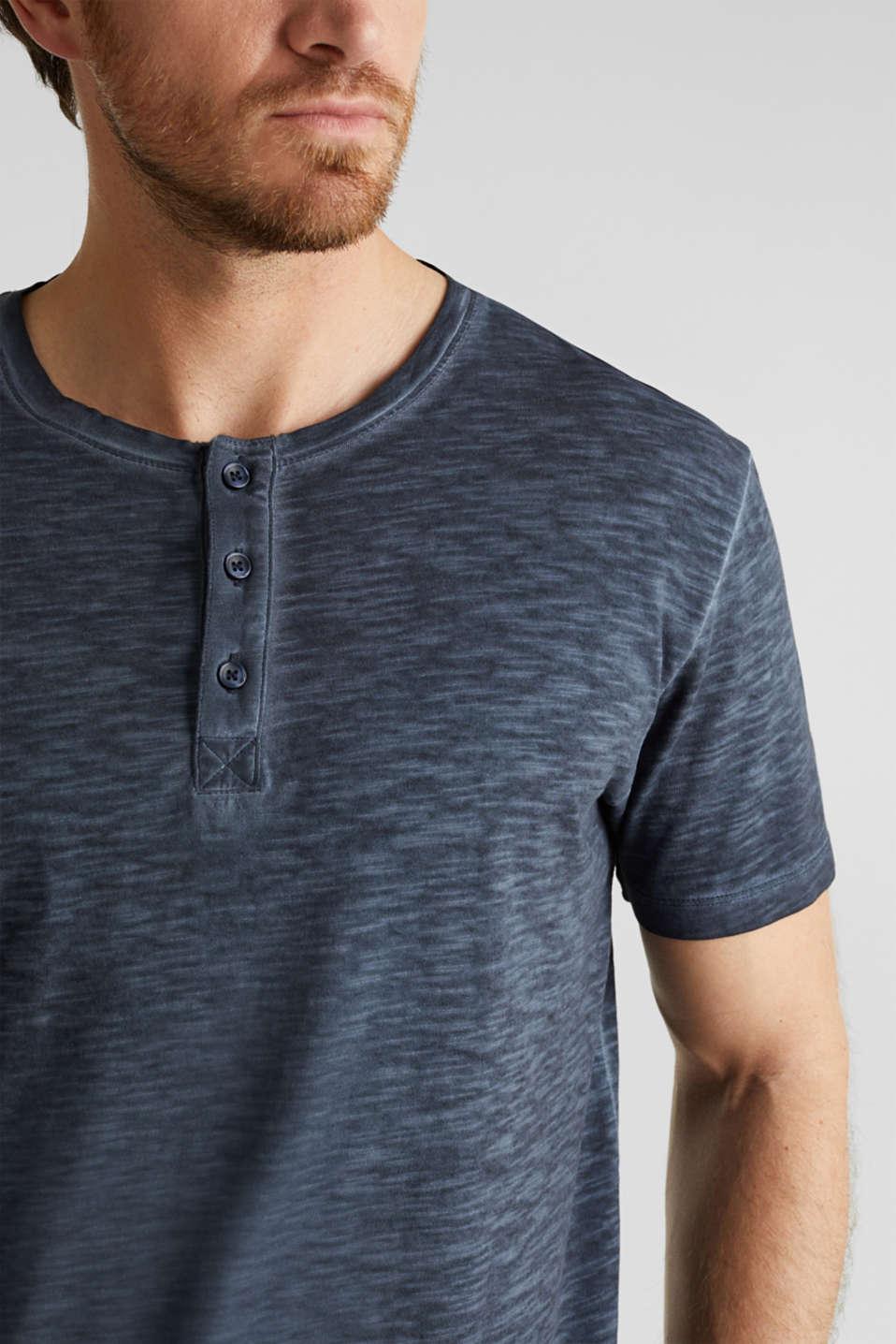 Slub jersey T-shirt made of organic cotton, NAVY 2, detail image number 0