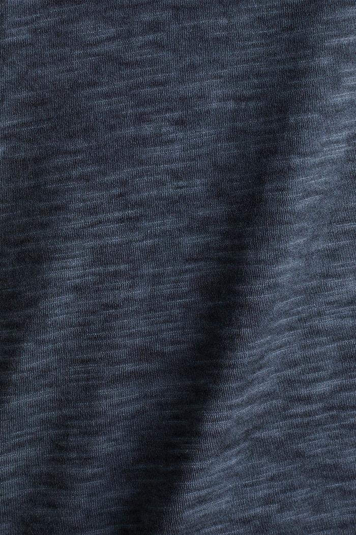 Slub jersey T-shirt made of organic cotton, NAVY, detail image number 3