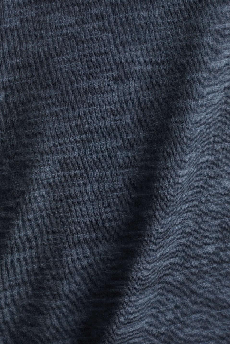 Slub jersey T-shirt made of organic cotton, NAVY 2, detail image number 3