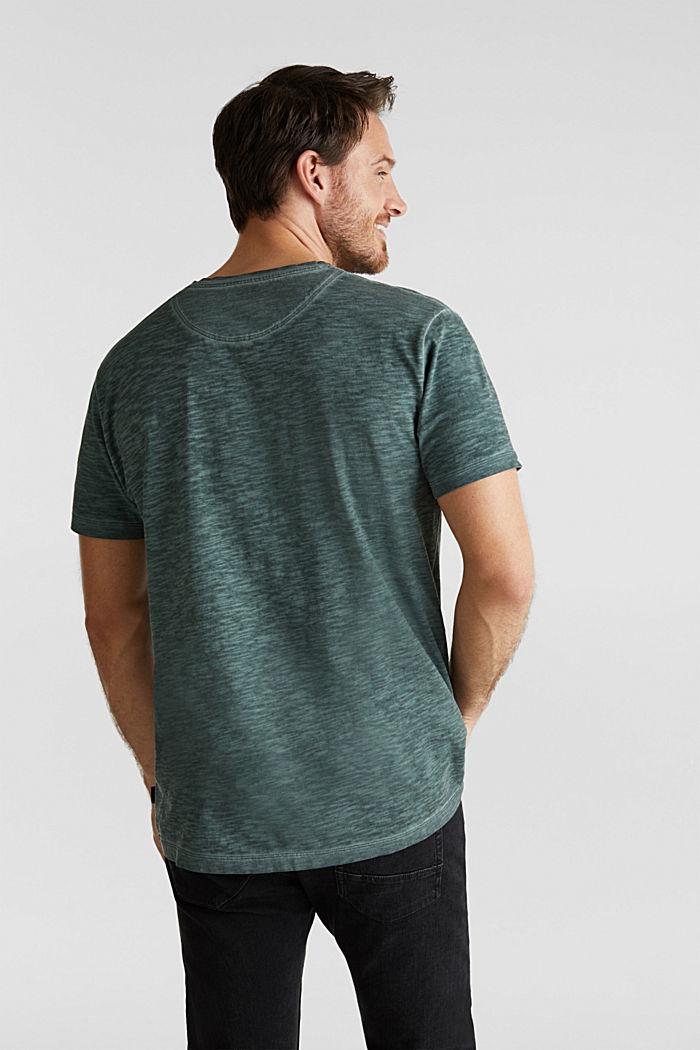Slub Jersey-Shirt aus Organic Cotton, TEAL BLUE, detail image number 3