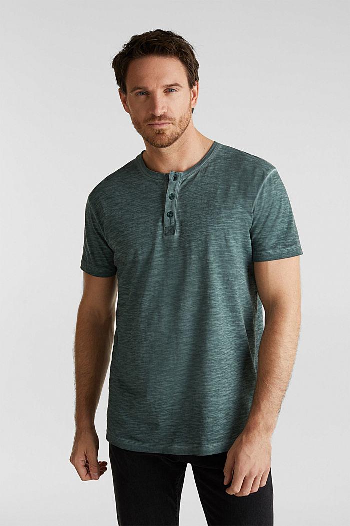Slub Jersey-Shirt aus Organic Cotton, TEAL BLUE, detail image number 4