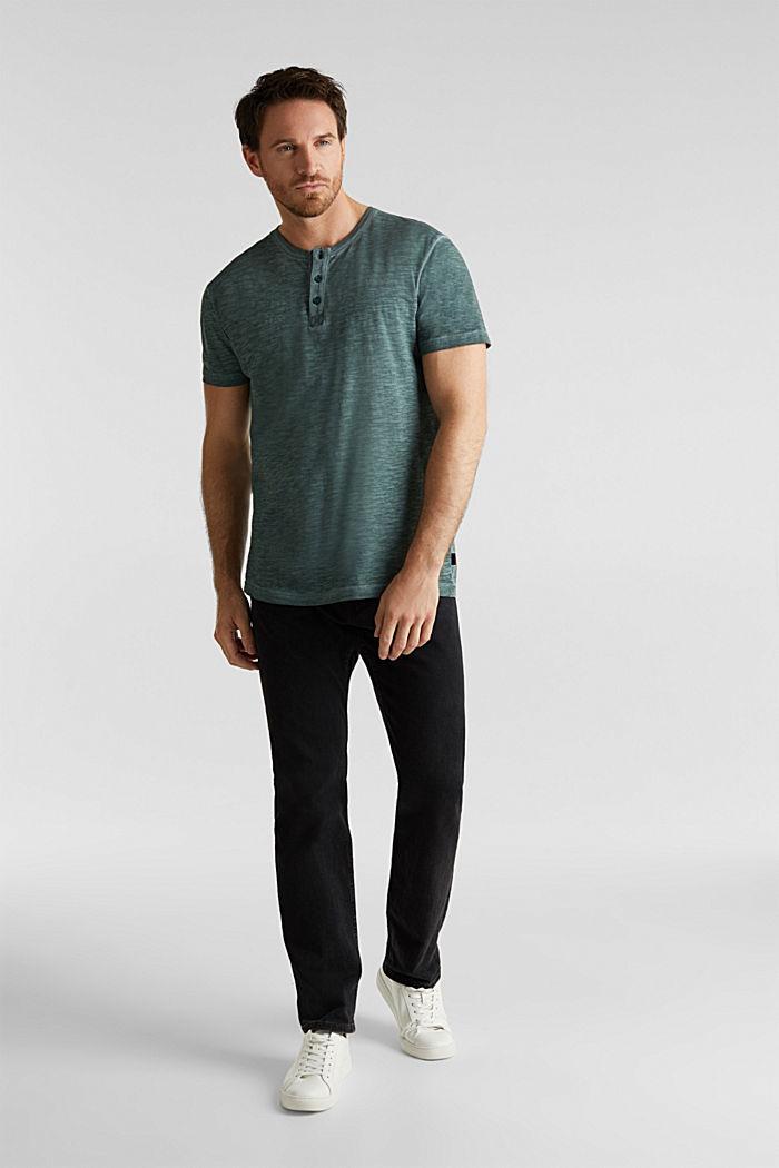 Slub Jersey-Shirt aus Organic Cotton, TEAL BLUE, detail image number 2