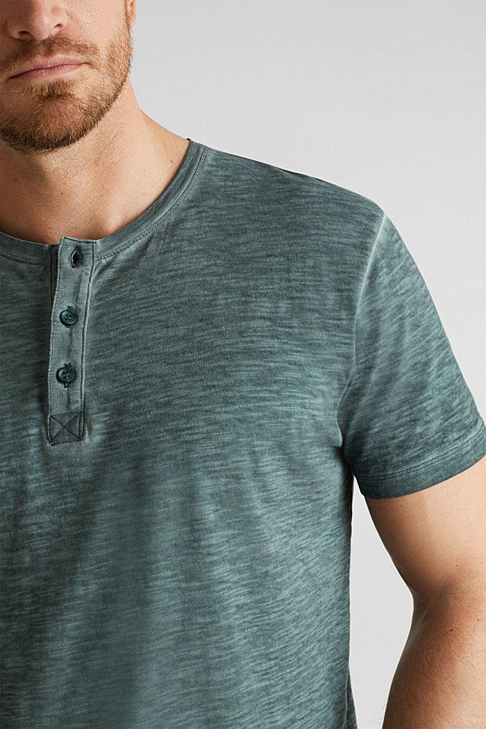 Slub Jersey-Shirt aus Organic Cotton, TEAL BLUE, detail image number 1