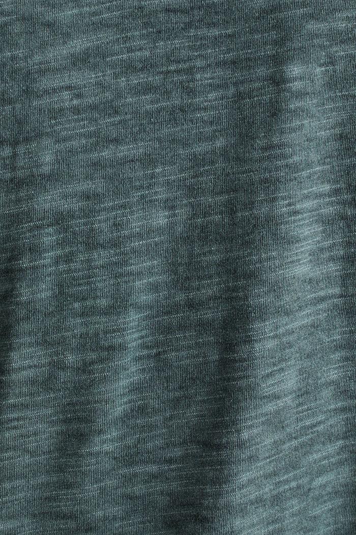 Slub Jersey-Shirt aus Organic Cotton, TEAL BLUE, detail image number 5