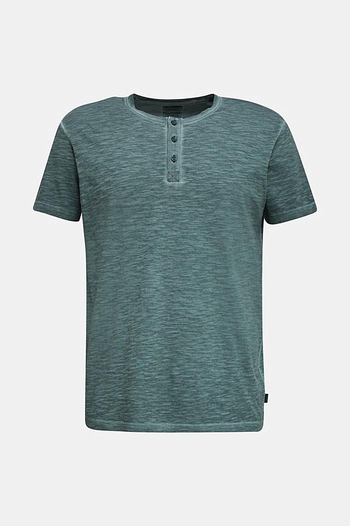 Slub Jersey-Shirt aus Organic Cotton, TEAL BLUE, detail image number 7