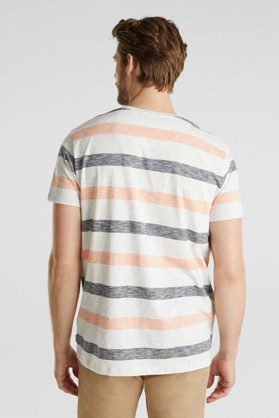 Jersey top with dimples and stripes, ORANGE 3, detail image number 3