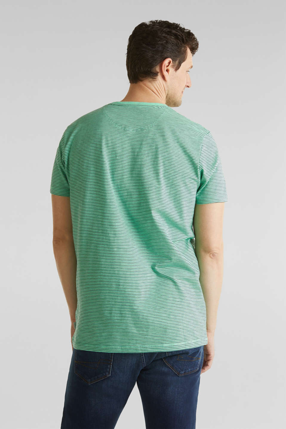 Jersey T-shirt in 100% cotton, LIGHT GREEN 3, detail image number 3