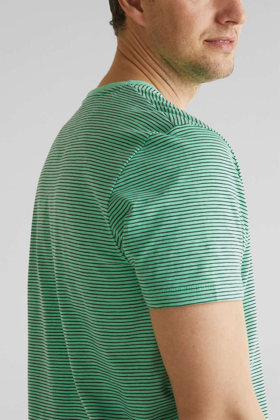 Jersey T-shirt in 100% cotton, LIGHT GREEN 3, detail image number 1