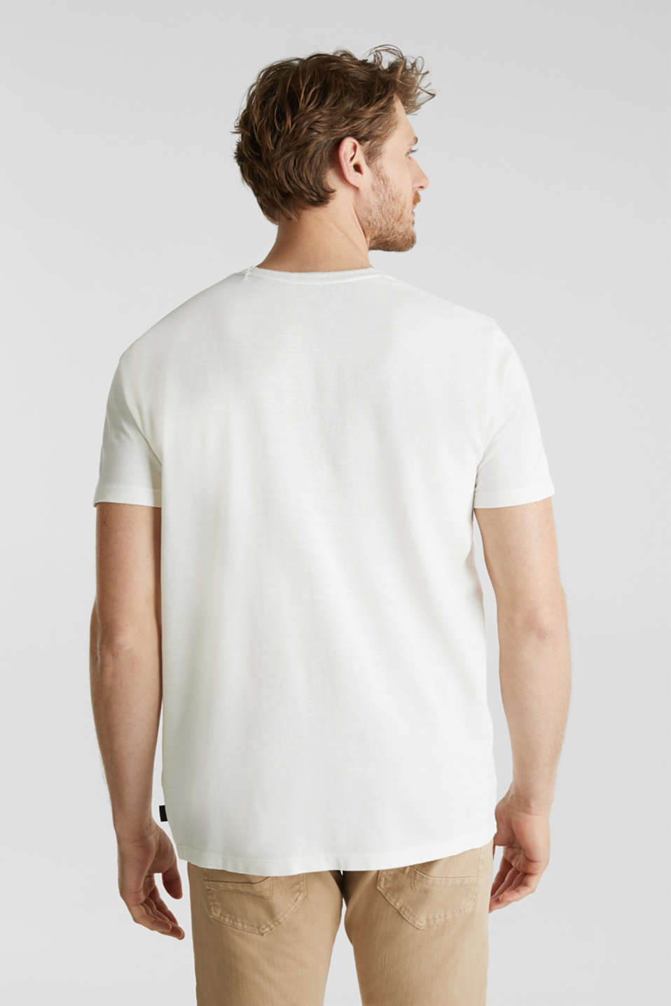 ARCHROMA piqué T-shirt, 100% organic cotton, OFF WHITE 2, detail image number 3