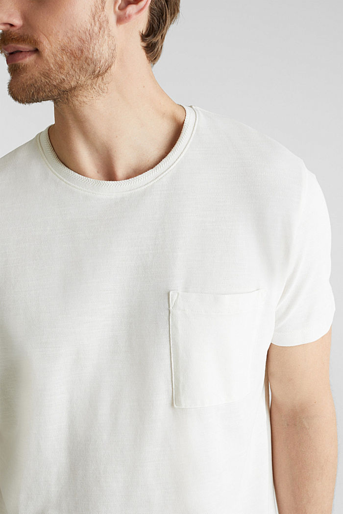 ARCHROMA Piqué-Shirt, 100% Organic Cotton, OFF WHITE, detail image number 1