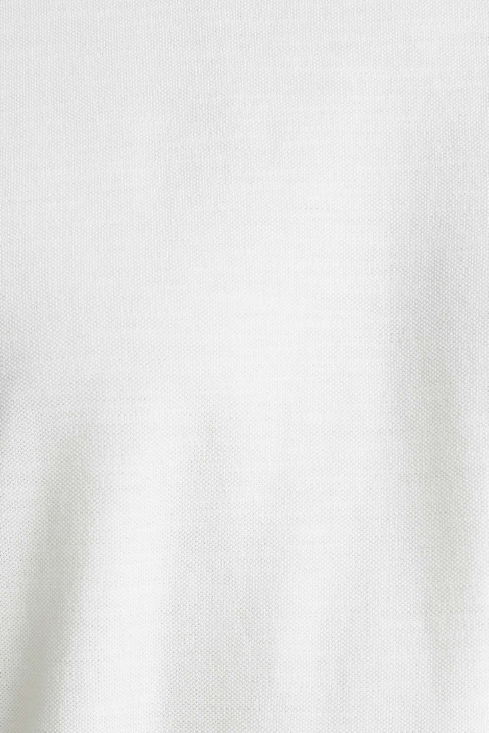 ARCHROMA piqué T-shirt, 100% organic cotton, OFF WHITE 2, detail image number 5