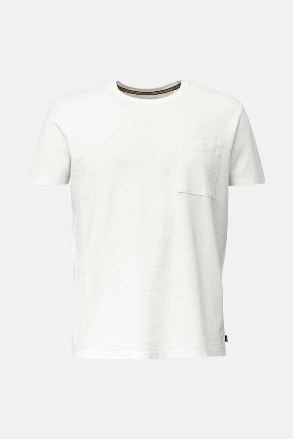 ARCHROMA piqué T-shirt, 100% organic cotton, OFF WHITE 2, detail image number 8