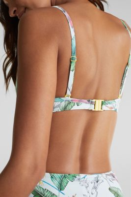 Push-up top with a print, LIGHT AQUA GREEN, detail