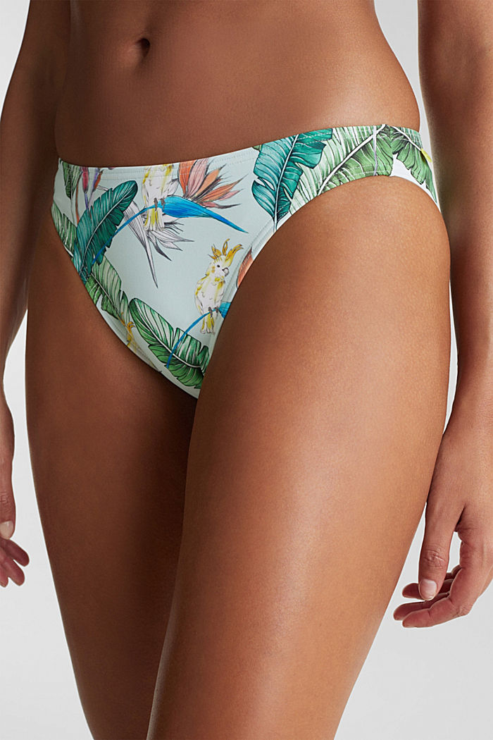 Mini-Slip mit Print, LIGHT AQUA GREEN, detail image number 1