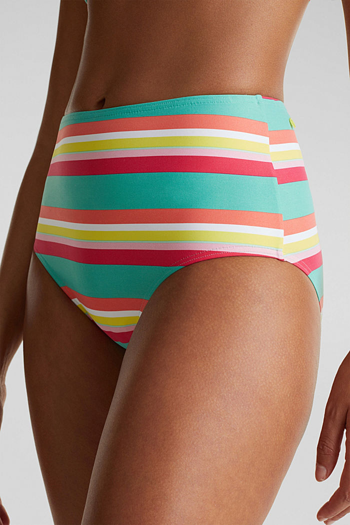 High-waisted briefs with stripes, DUSTY GREEN, detail image number 1