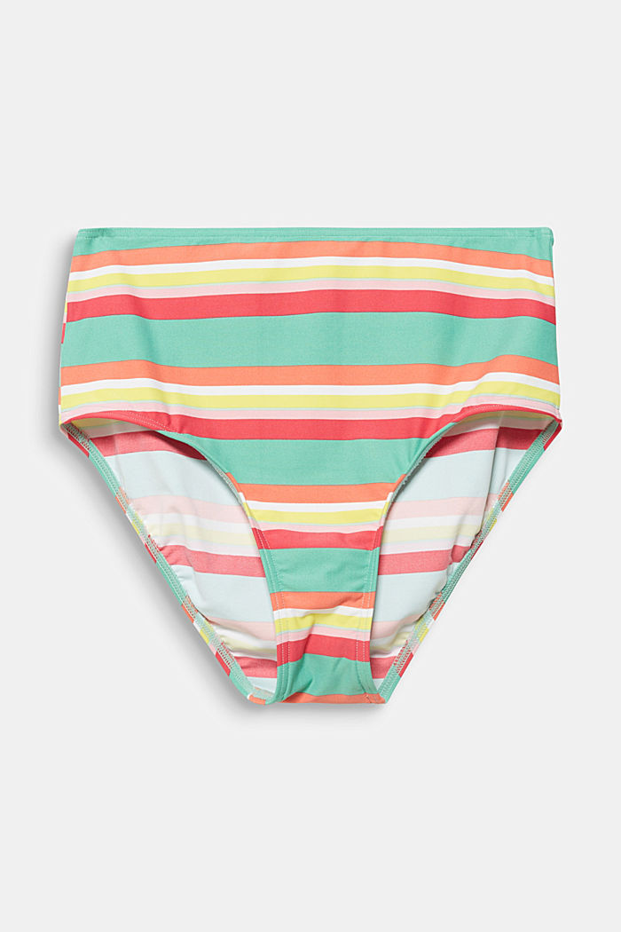 High-waisted briefs with stripes