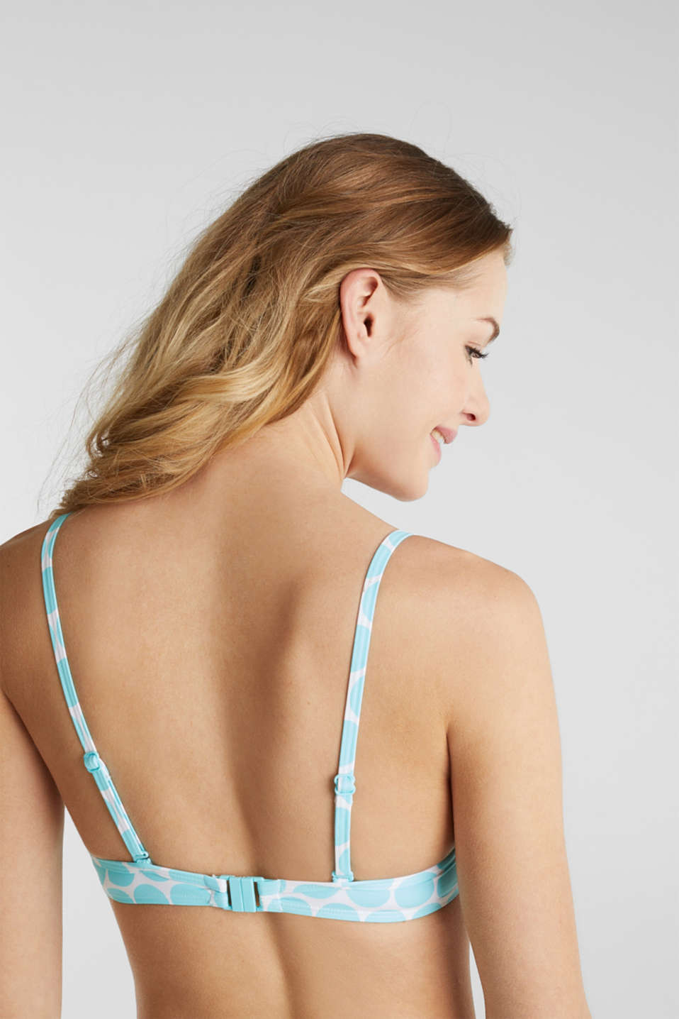 Push-up top with polka dots, LIGHT AQUA GREEN, detail image number 4
