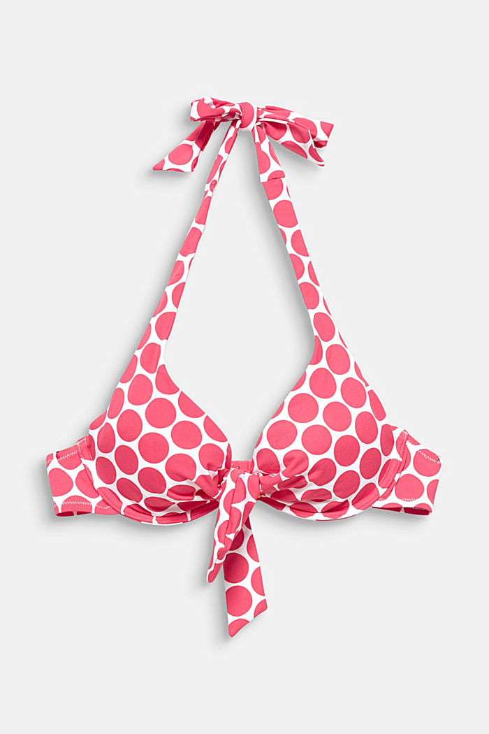 Unpadded underwire top with polka dots