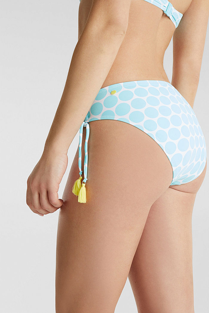 Midi briefs with gathering, LIGHT AQUA GREEN, detail image number 4