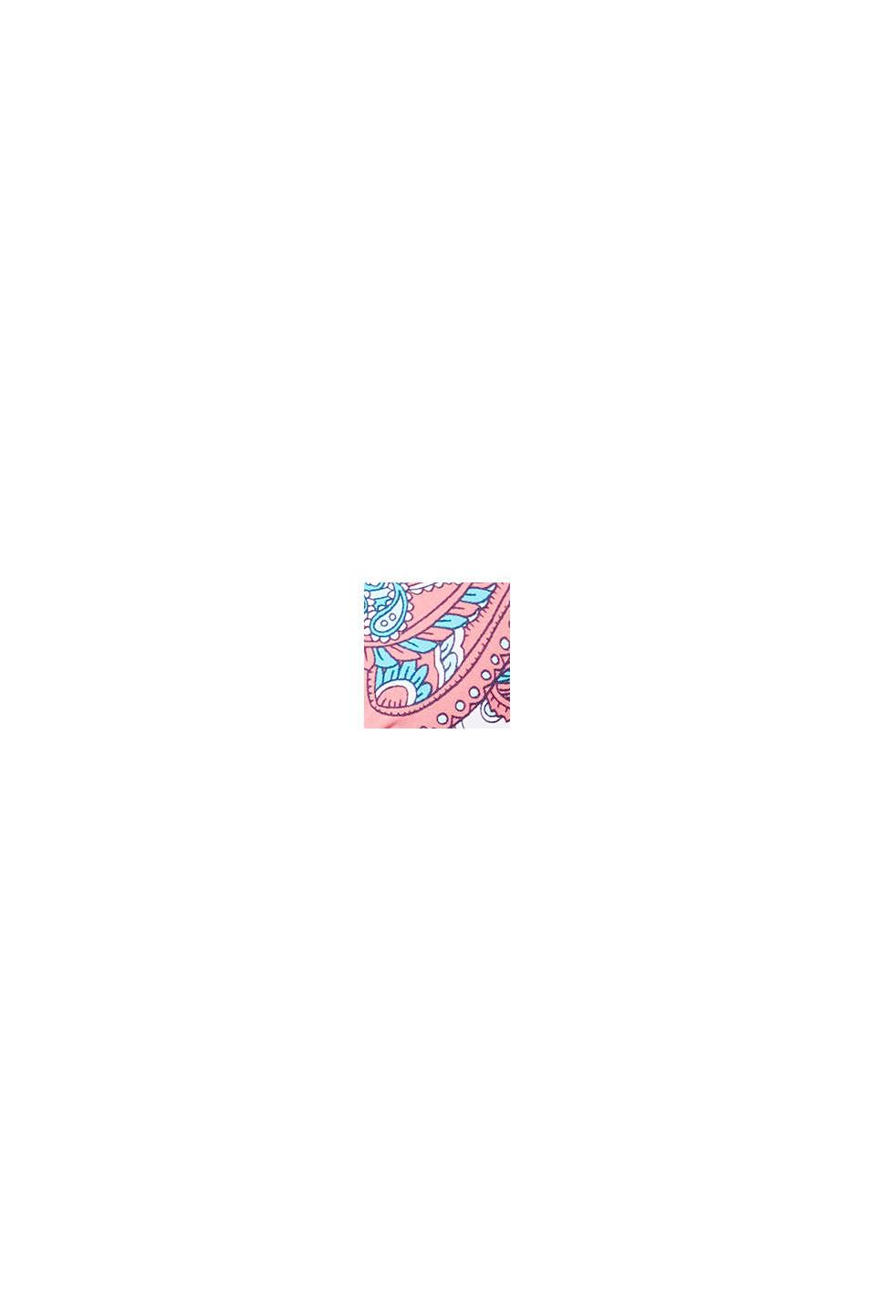 Vatteret bøjletop med print, CORAL, swatch