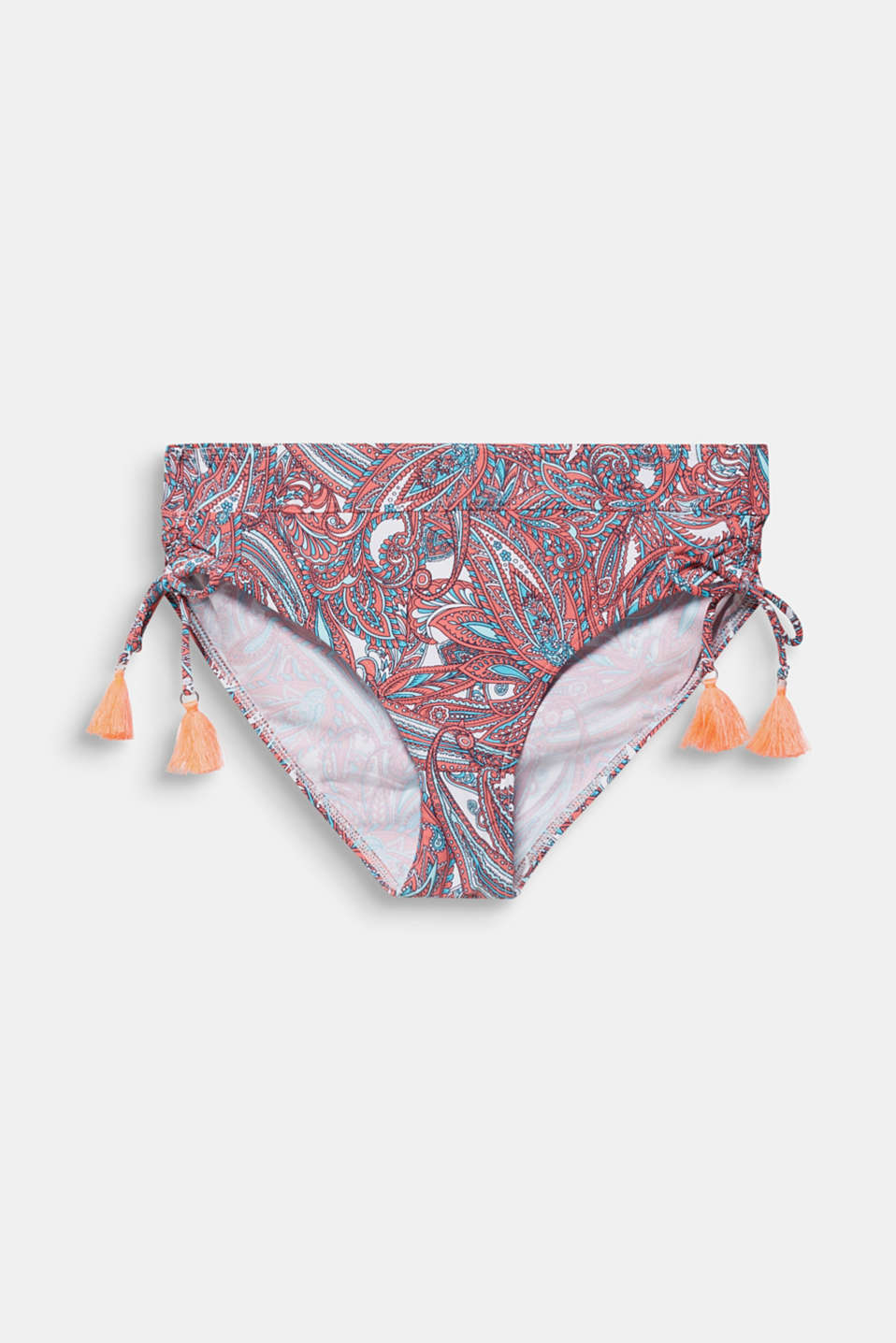 High-waisted briefs with gathering, CORAL, detail image number 4