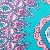 Underwire bikini top with a paisley print, BLUE, swatch