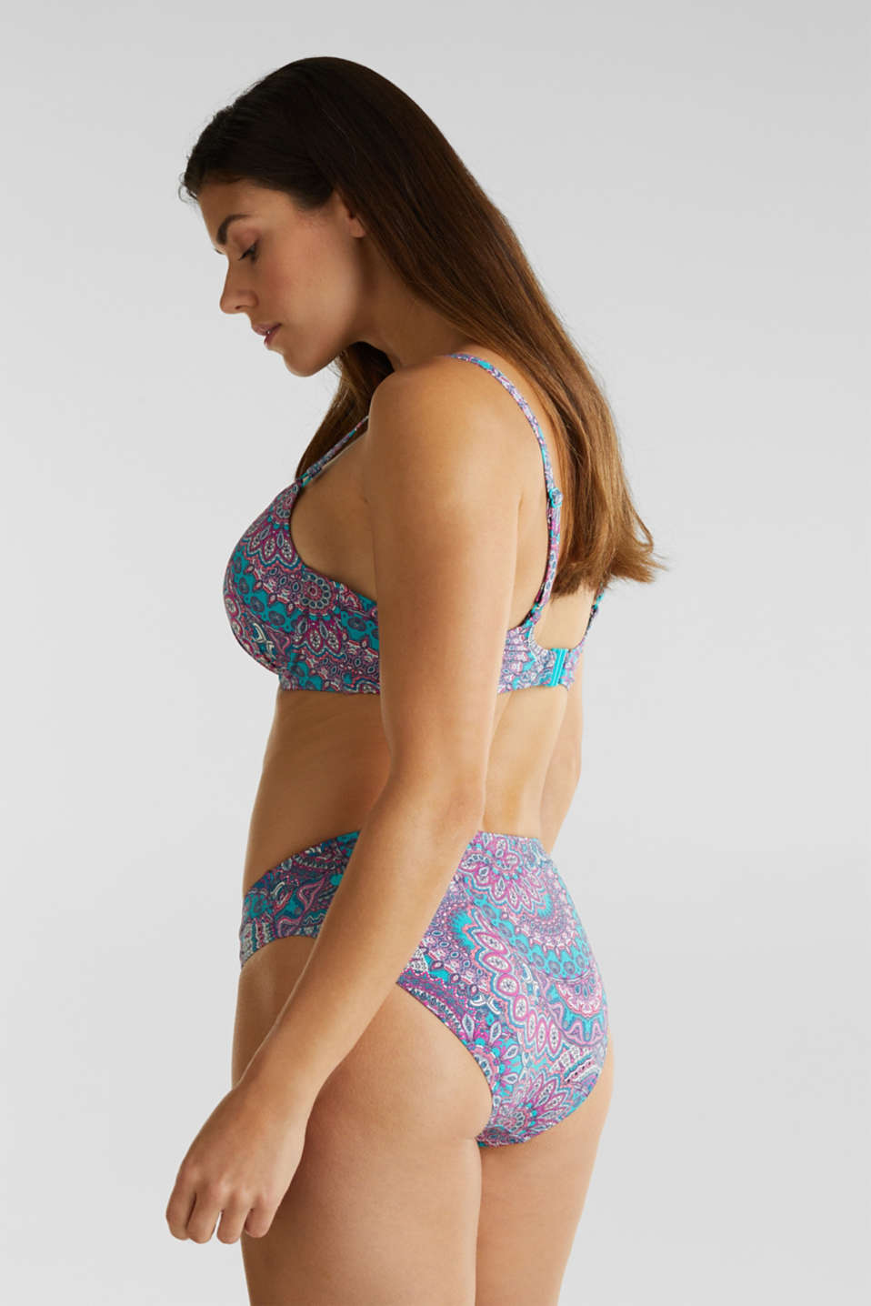 Midi briefs with a print, BLUE, detail image number 2
