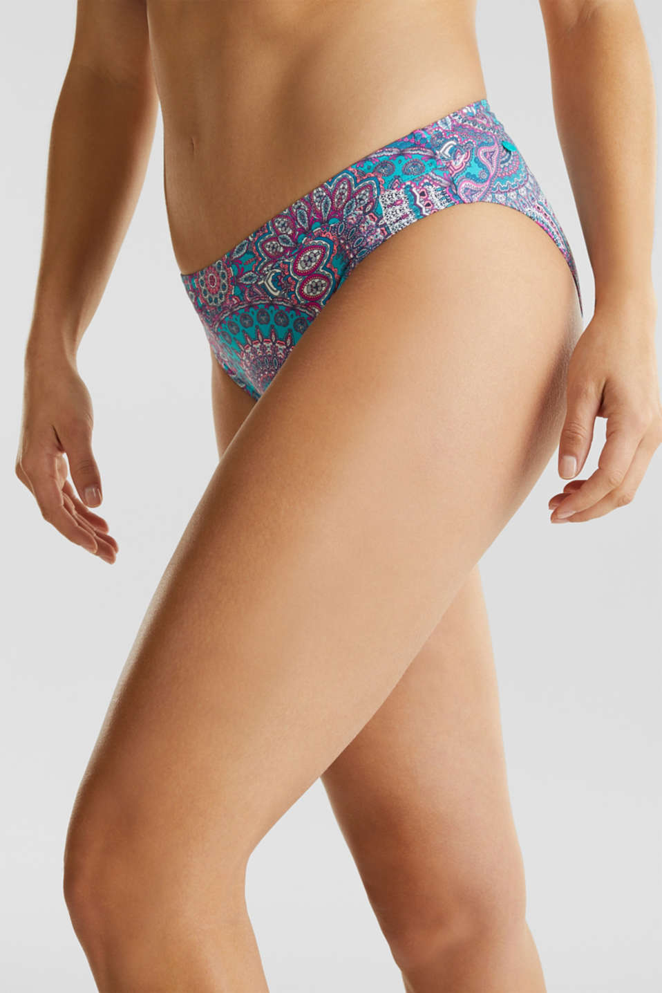 Midi briefs with a print, BLUE, detail image number 1