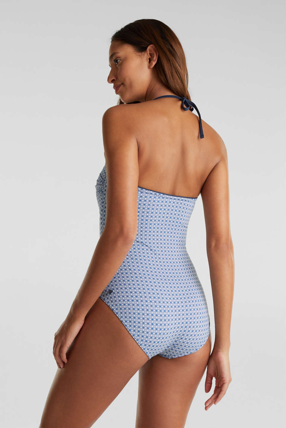 Shaping swimsuit with a print, NAVY 2, detail image number 1
