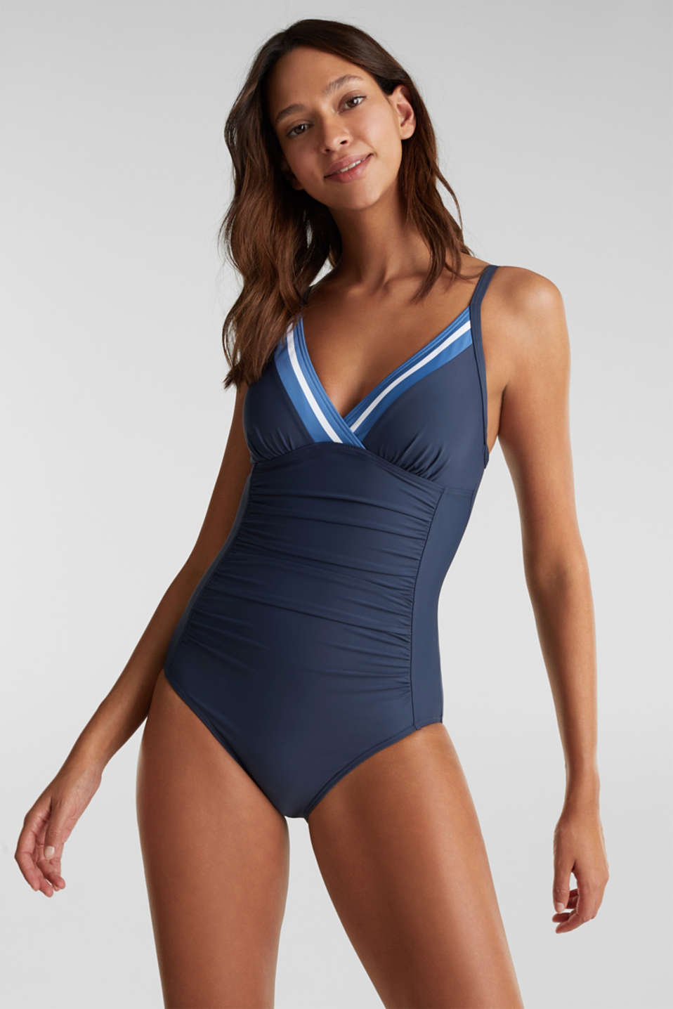 Esprit - Shaping swimsuit with stripes