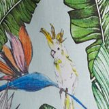 Gesmoktes Maxikleid mit Print, LIGHT AQUA GREEN, swatch