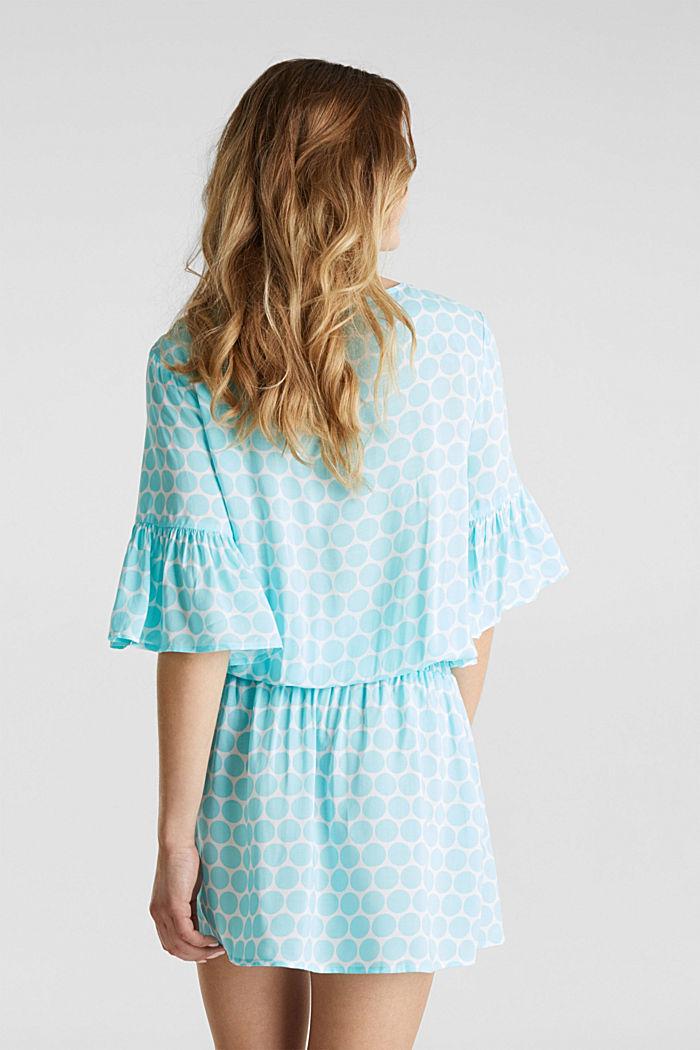 Tunic dress with a polka dot print, LIGHT AQUA GREEN, detail image number 1