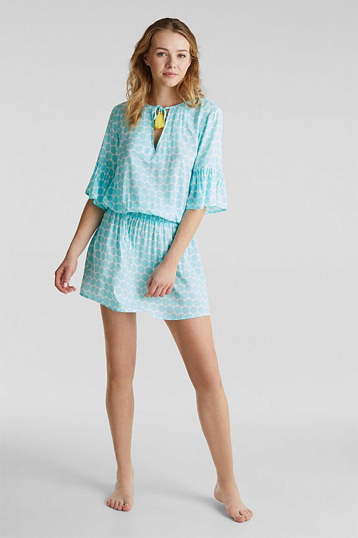Tunika-Kleid mit Punkte-Print, LIGHT AQUA GREEN, detail image number 2