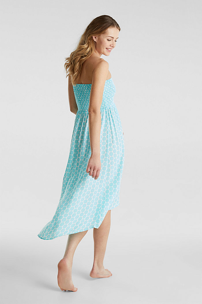 Beach dress with a smocked bustier, LIGHT AQUA GREEN, detail image number 1
