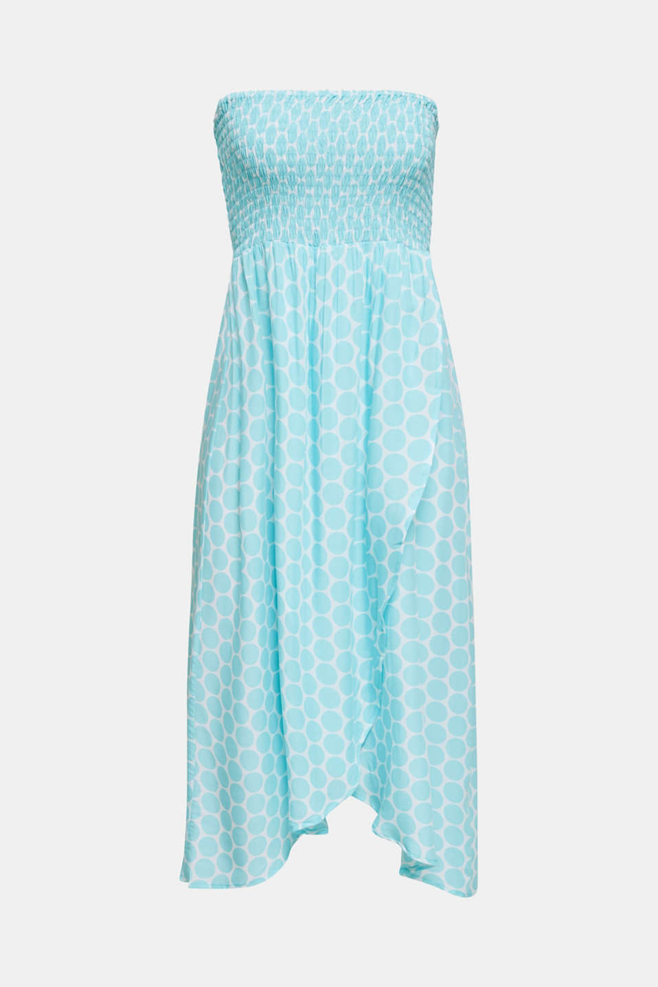 Beach dress with a smocked bustier, LIGHT AQUA GREEN, detail image number 3