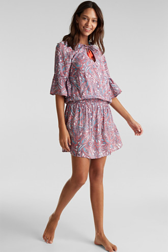Tunic dress with a paisley print