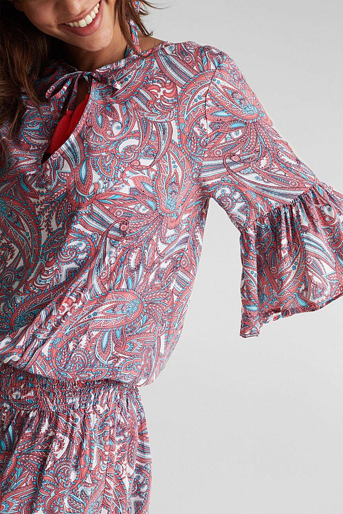 Tunikakjole med paisleyprint, CORAL, detail image number 3