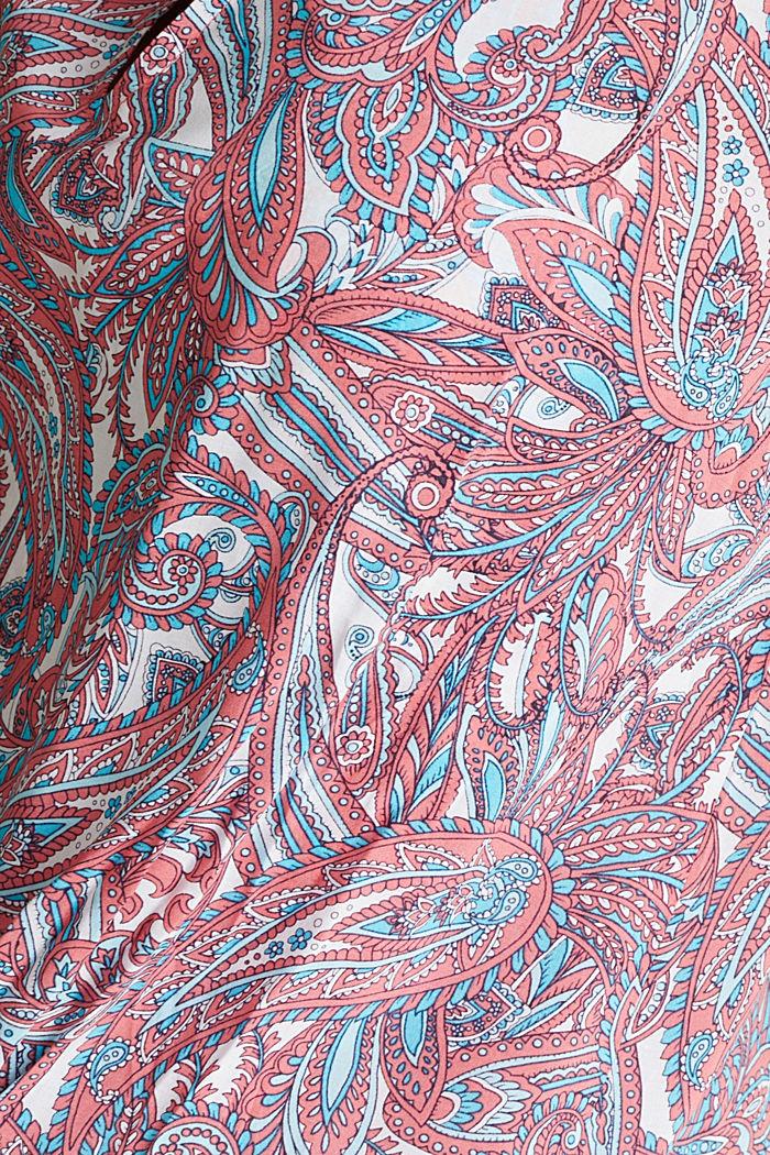 Tunikakjole med paisleyprint, CORAL, detail image number 4