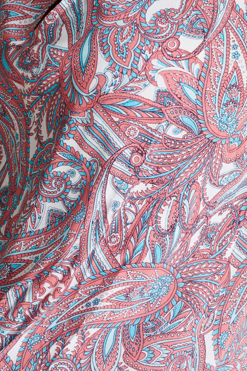 Tunic dress with a paisley print, CORAL, detail image number 4