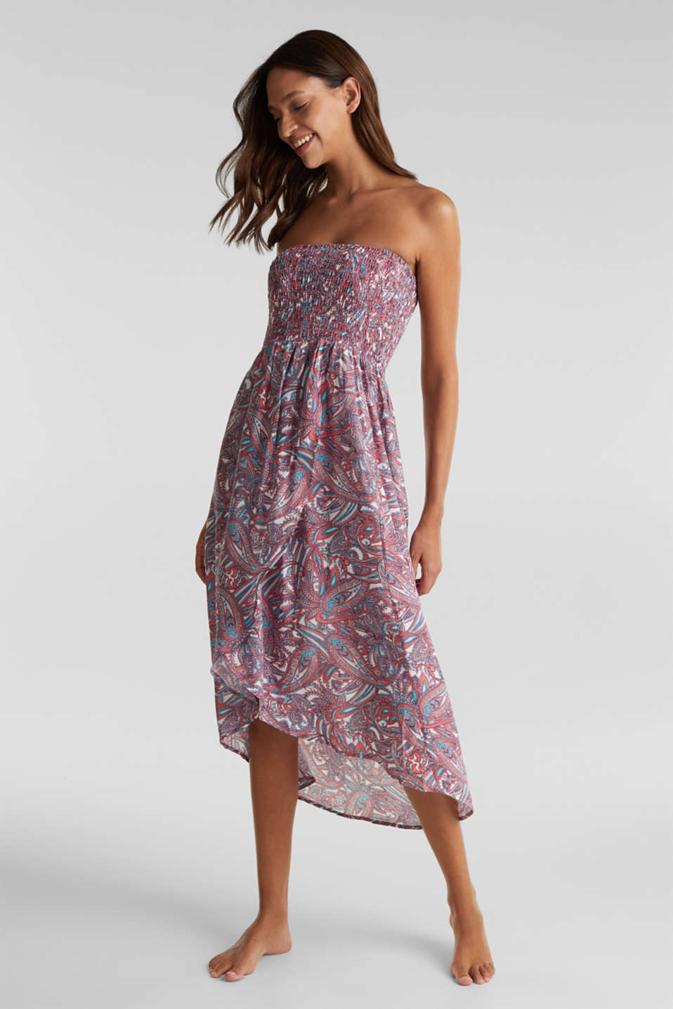 Esprit - Casual dress with a paisley print
